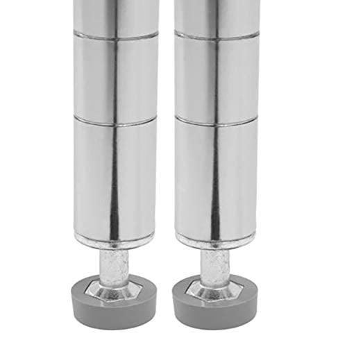 Seville Classics Ultradurable Commercial Grade Steel Shelving Poles 72 H X 1 Diameter Chrome Set Of 2 Walmart Com Walmart Com
