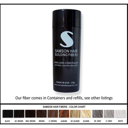 AUBURN color Samson Best Hair Loss Concealer Building Fibers CONTAINER With 25grams