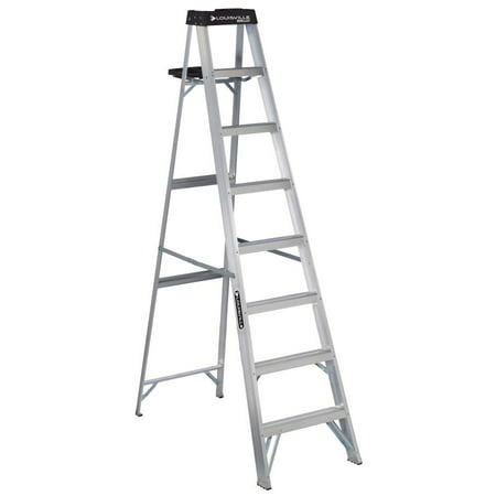 Louisville Ladder 8-Foot Aluminum Step Ladder, 250-Pound Capacity, Type I, W-2112-08S