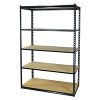 Storage Max Garage Shelving Boltless, 36 x 12 x 72, Heavy Duty, 5 Shelves