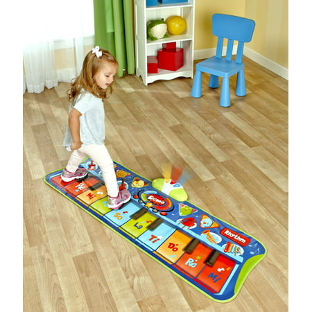 Step-to-Play Piano Mat - Musical Electronic Floor Keyboard for Toddlers...