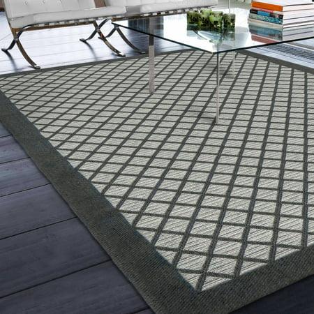 Orian Rugs Indoor Outdoor Squares Fusion Trellis Area Rug