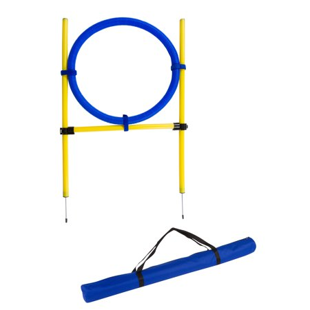 """26"""" Diameter Dog Agility Jumping Training Hoop with Carry Bag By Trademark Innovations"""