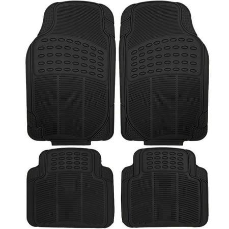 Suv Floor Mats >> Heavy Duty Rubber Front And Rear Truck Sedan Suv Floor Mats Black