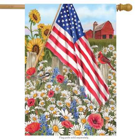 america the beautiful summer house flag patriotic field of flowers 28