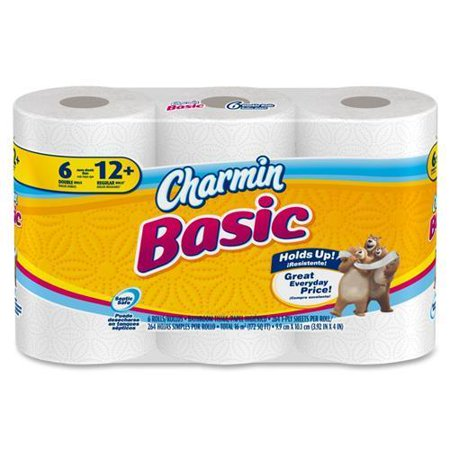 85982CT Charmin Basic Big Roll Toilet Paper - 1 Ply - 308 Sheets ...