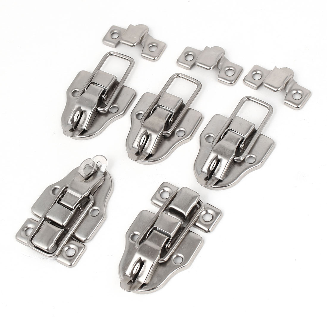 Furniture Suitcase Drawer Chest Box Toggle Latch Catch Hasp Silver Tone 5pcs