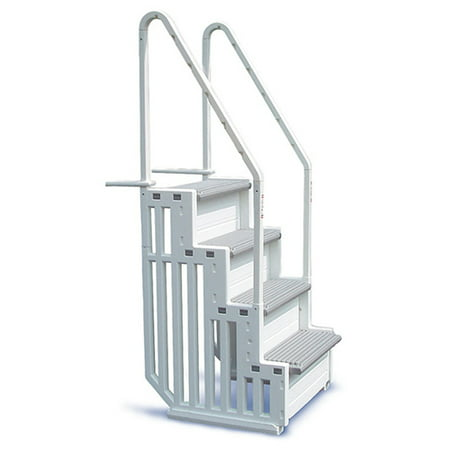 Confer Step 1 Staircase Style Above Ground Pool Steps Warm Grey - STEP-1-X