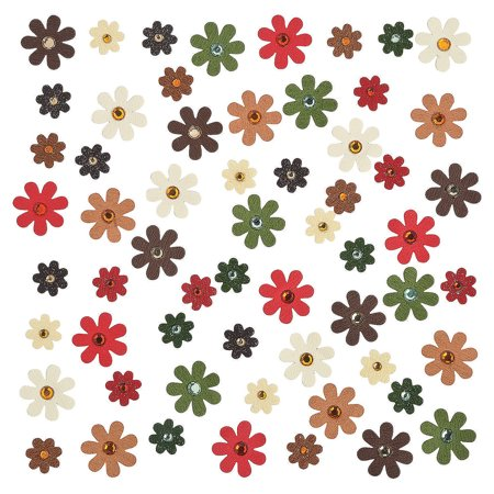 - Fun Express - Fall Paper Flowers for Fall - Craft Supplies - Scrapbooking Embellishments - Misc Scrapbooking Embellishments - Fall - 60 Pieces