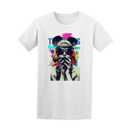 Colorful Abstract Model Mask Tee Men's -Image by (Mens Models Images)
