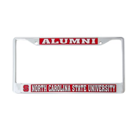 Desert Cactus North Carolina State University Alumni Metal License Plate Frame for Front Back of Car Officially Licensed NC Wolfpack North Carolina State Wolfpack Car