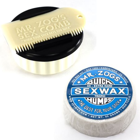 Sex Wax Surf Wax Quick Humps 6X With Container And Comb White