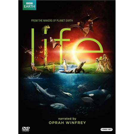 BBC Earth Life BBCLIFEDVD 4 DVD Gift Set Narrated by Oprah Winfrey