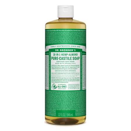 - Dr. Bronner's Almond Pure-Castile Liquid Soap - 32 oz