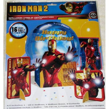 Iron Man 2 Mylar Balloon Table Decoration Kit - Iron Man 3 Party Supplies