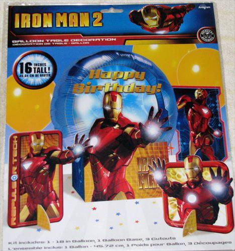 Iron Man 2 Mylar Balloon Table Decoration Kit (4pc)