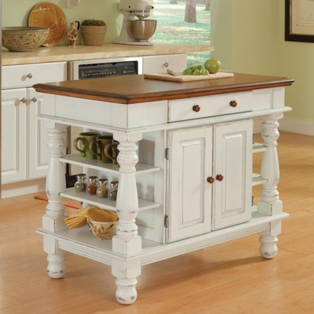 - Home Styles Americana Antiqued White Kitchen Island