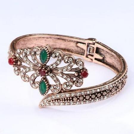 30d756f7e76b2 Antique Gold Plated Retro Style Women Party Wear Wedding Cuff Bracelet  Bangle