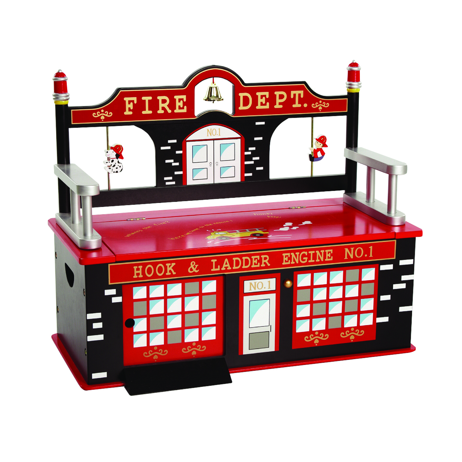 Wildkin Firefighter Bench Seat w/ Storage