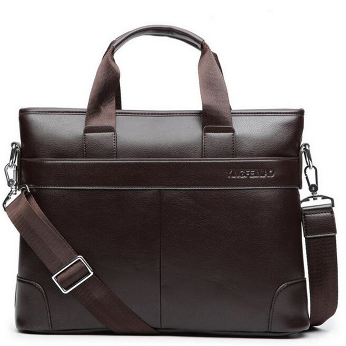 Men's Briefcase Leather Satchel Business Shoulder Messenger Bags Laptop Handbag