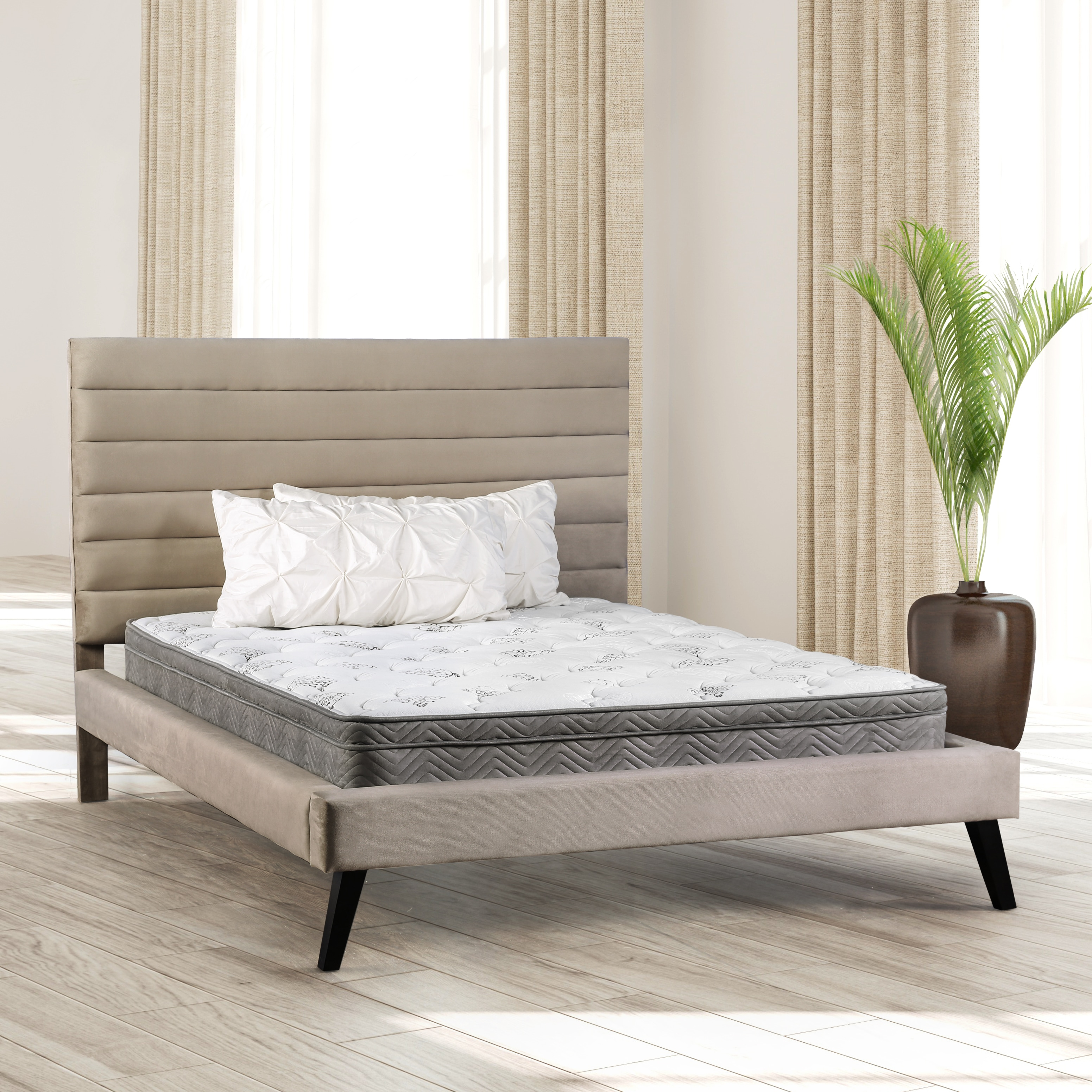 Furniture of America miBasics 11-inch Euro Top California King-size Mattress