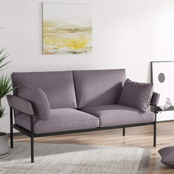 Tribesigns Modern Loveseat, 2 Seat Sofa for Small Space, Linen