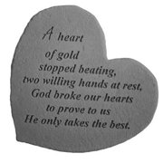 Kay Berry 08601 Great Thought Hearts- A heart of gold...