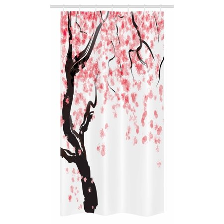 Floral Stall Shower Curtain Japanese Cherry Tree Blossom In Watercolor Painting Effect Oriental Stylized Art