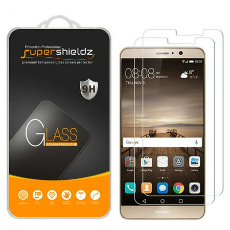 [2-Pack] Supershieldz for Huawei Mate 9 Tempered Glass Screen Protector, Anti-Scratch, Anti-Fingerprint, Bubble Free](huawei mate 9 us)
