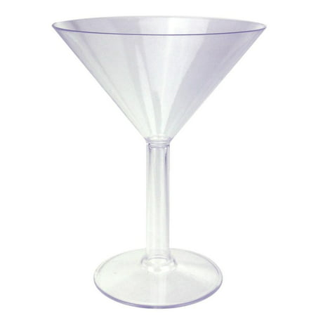 Martini Plastic Cups (Clear Plastic Martini Glass Cup, Large,)