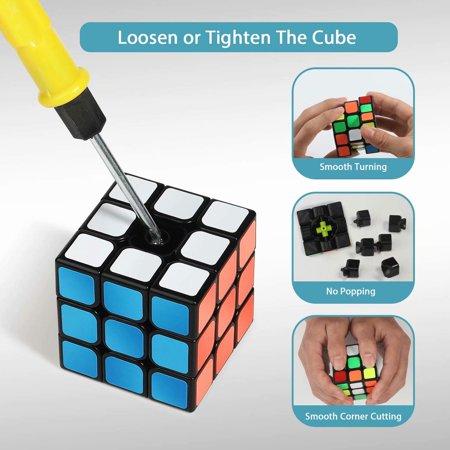 Speed Cube Set, Magic Cube Bundle 2x2 3x3 Pyramid and Skewb Cube Set (4 Pack) - image 7 of 7