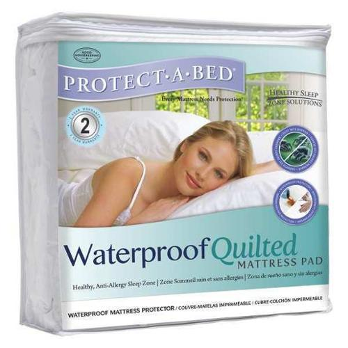 PROTECT-A-BED QG1111 Mattress Pad, Twin, Cotton, PK8