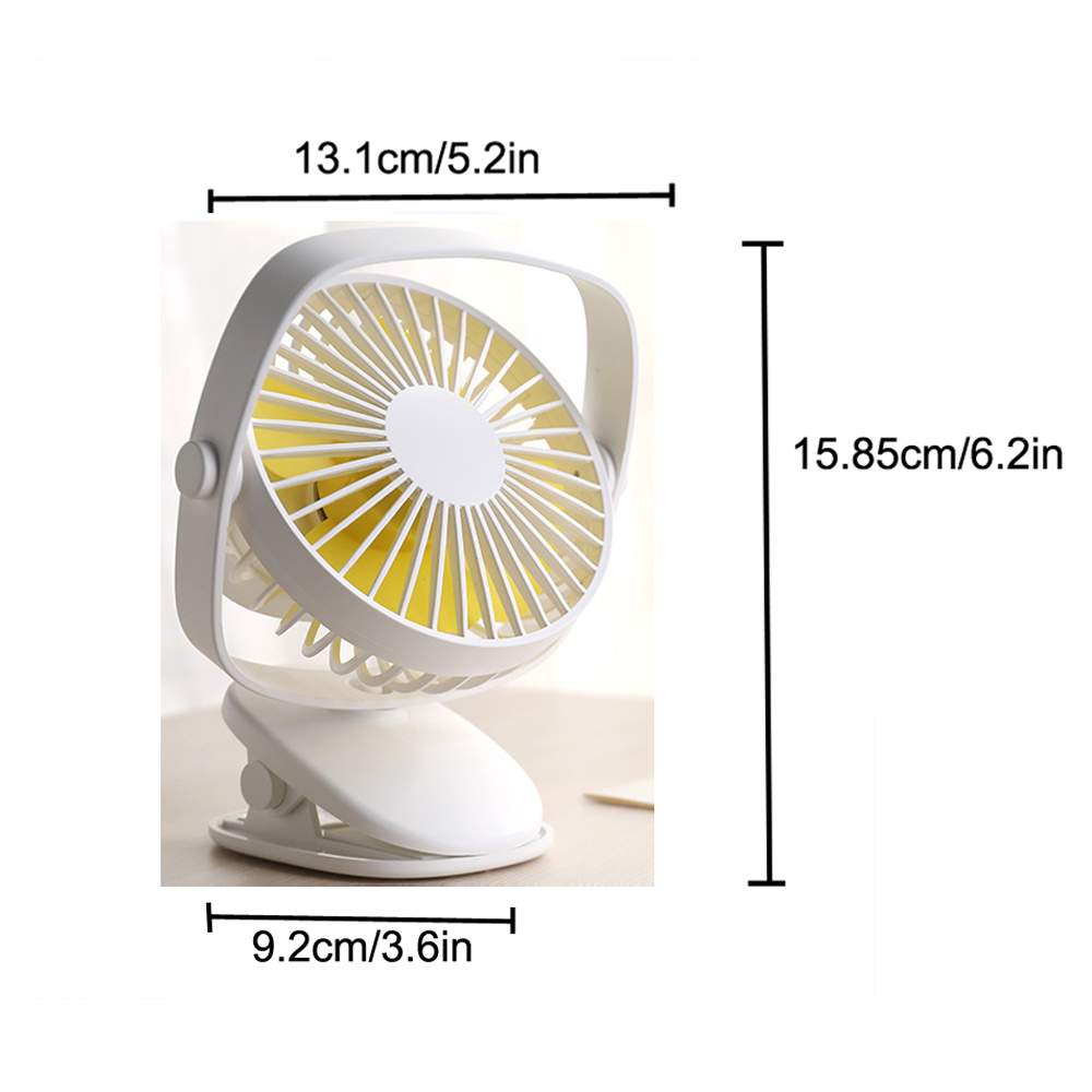 Color : Pink Mini Portable Cooling Fan Mini USB Rechargeable Air Cooling Fan Portable Desktop Clip Desk Fan Light for Dual Use Home Office Student Dormitory