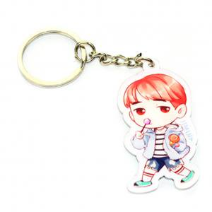 Fancyleo Cute Cartoon BTS Boys Keychain Key Ring Hot Gift for A.R.M.Y, - Cute Keychains