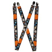 Size one size Kid's Elastic Solar System Print Clip-End Suspenders
