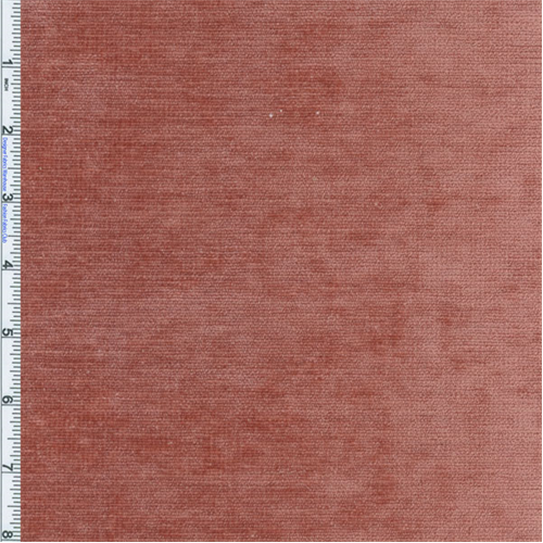 Cinnabar Pink Braemore Palermo Velvet Chenille Upholstery Fabric Fabric Sold By The Yard