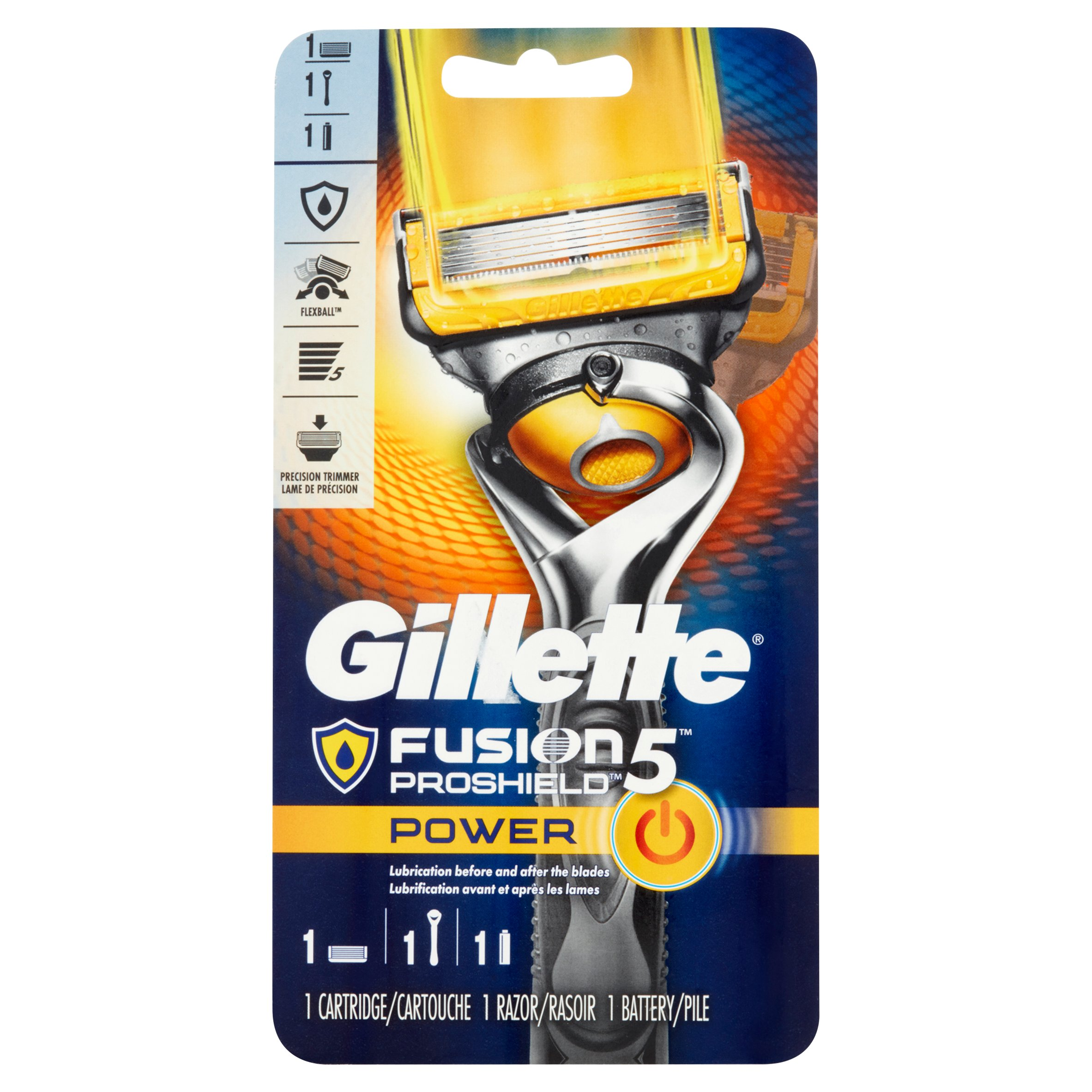 Gillette Fusion5 ProShield Power Cartridge, Razor and Battery