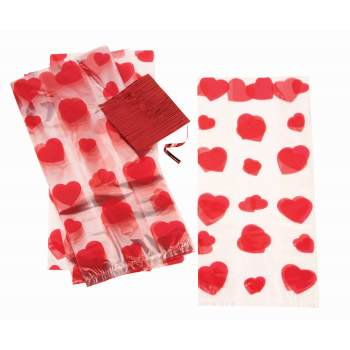 Red Treat Bags (Heart Treat Bags, 80 bags)