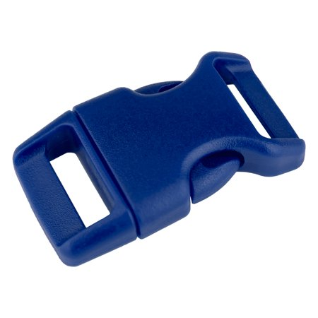 5/8 Inch Royal Blue Contoured Side Release Plastic Buckle (Contoured 3/4 Plastic Buckles)