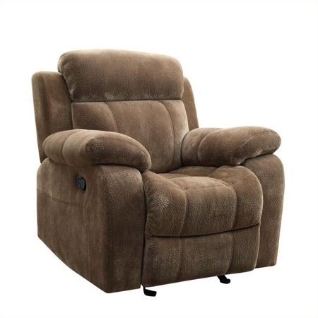 - Bowery Hill Motion Recliner Chair in Padded Velvet