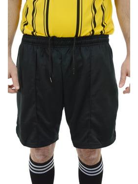 Mens Premium Drawstring Referee Shorts | Black Soccer Shorts for officials - Black CA6025 Youth