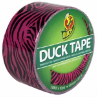 "Duck 1.88"" x 10 YD Pink Zebra Print Duct Tape Use For Repairs Color Co 2PK"