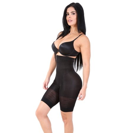 - Smok69 Slimming Panty High Waisted Mid Thigh Shaper Leg Up To Chase Hip Curve tummy Control Butt Shape L