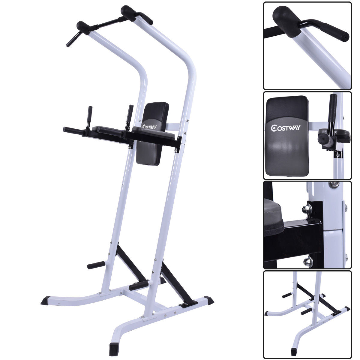 Costway Chin Up Stand Pull Up Bar Dip Power Tower Home Gym Fitness Workout