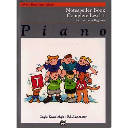 Alfreds Basic Piano Library Notespeller Book Complete Level by