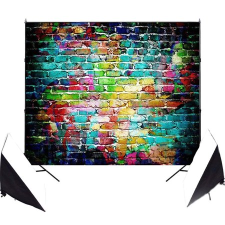 ABPHOTO Polyester 7x5ft Graffiti Imaginative Studio Photo Photography Background Studio Backdrop Props best for Wedding, Personal Photo, Wall Decor, Baby Children Kids, Newborn