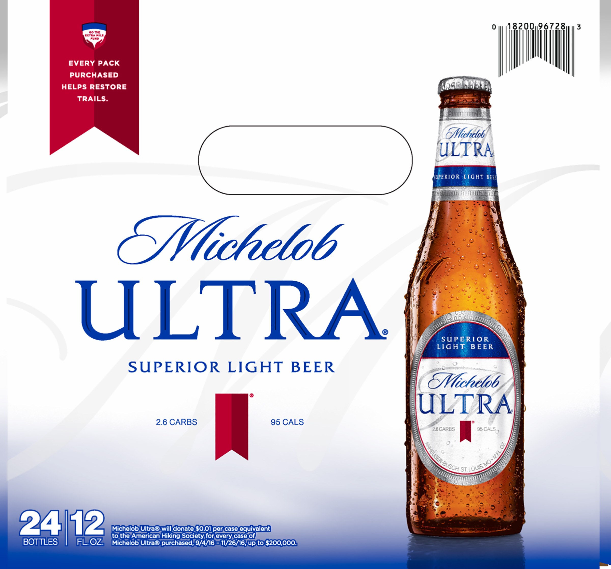 Michelob ultra logo black background