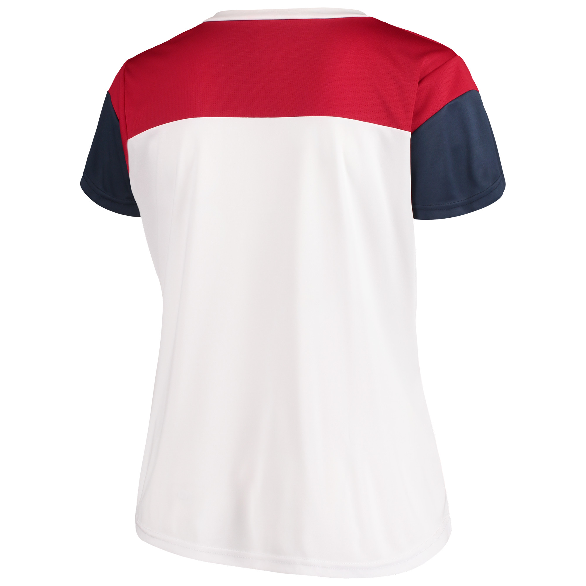 Women s Majestic White Navy Houston Texans Lace-Up V-Neck T-Shirt -  Walmart.com cc0472991