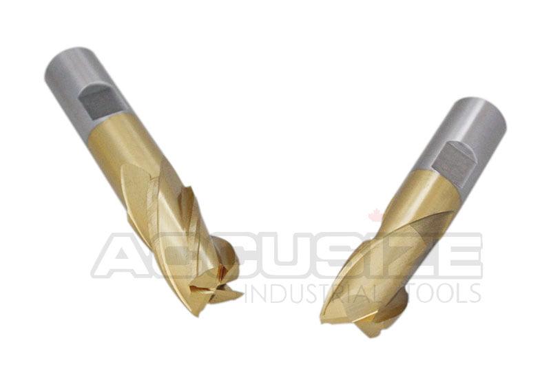 5.2mm Diameter x 62mm Length YG-1 D4107 High Speed Steel Stub Screw Machine Drill Bit TiN Finish 135 Degree Pack of 5 Slow Spiral Straight Shank