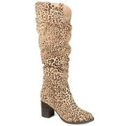Brinley Co. Womens Slouch Heeled Boot